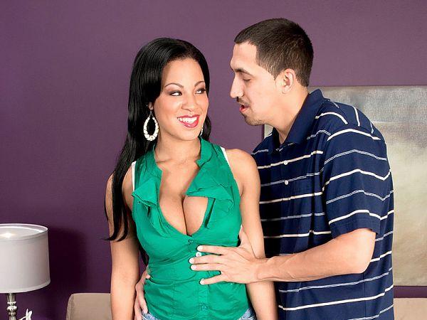 A sucker for big tits meets Natasha Dulce