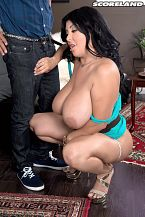 Daylene rio - latina heat. Latina Heat One of the big sex stars of SCORE, sultry Daylene Rio's round booty and big tits leave a trail of gawkers and lascivious tit-men. The brunette Latina has enough boom-booms and bum-bum for three women. She's whacked more guys than the mafia. Daylene meets great Pike and easily mounts Pike's peak in this steamy scene. A woman like Daylene deserves a thick pipe fuck her cunt and mouth. Pike has fuck a score of SCORE hotties before but never got to lay the wood to Daylene. He gives Daylene a royal screwing fit for a queen. Shooting my first scenes at SCORE did change me in a pretty way, said Daylene. I am much more open to sex and I think I'm more aggressive now. One thing that's puzzling is what Daylene said about her dates. I've watched my SCORE videos and DVDs by myself, but for some reason when I'm on a date, the guy is always showing me clips of my scenes. Maybe because Daylene brings out the beast.See More of Daylene Rio at SCORELAND.COM!