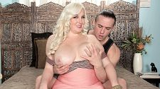 Holly wood - bunny girl bang. Bunny Girl Bang Newcomer Holly Wood (SCOREtv Season 2 Episode 4) made her debut at SCORELAND busting out of a tight pink top. The bouncing, bubbly blonde Bunny Ranch babe has a bustline that balloons her blouses to the point of button-bursting with a deep breath. And just look at that bodacious badonkadonk. Baby got back, indeed. Holly returns to show her bedroom talents in her first boy-girl scene and SCORE asked Holly about it.SCORELAND: Holly, this was your first scene on-camera. How different was it for you to be photographed having sexHolly: It really is a lot different when a photographer is around. Suddenly I have to worry about how I look in every angle. When I'm just having sex with someone, they can't see every aspect my body like a camera across the room does. SCORELAND: Were you nervous at all before your first hardcore sceneHolly: I was nervous because I didn't exactly know the step-by-step process of how things flowed. I enjoy being in control, and I typically plan everything out in my head beforehand. Here, I couldn't do that because I was a newbie! It was fun having to let go and be more spontaneous with my days. I wasn't nervous about the actual scene or having sex. It's something I do every day! It's the other aspects that made my heart flutter!SCORELAND: Do you watch porn in general or did you watch any SCORE videos before you came hereHolly: I watch porn almost every day. I didn't get to see many SCORE videos, just trailers, so I had some idea of how things would look!SCORELAND: What kind of porn do you likeHolly: What don't I watch All of it turns me on, seriously! Especially cumshot shots. Something about seeing that moment of ecstasy. SCORELAND: What would you say to other curvy girls interested in shooting for SCOREHolly: I'll say it over and over...do it! They are professional, nice, fun, and a enjoyment to work with! I trust them completely!  See More of Holly Wood at PORNMEGALOAD.COM!