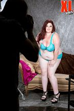 Trinety guess - why guys become photographers. Why Guys Become Photographers Trinety G. is visiting the glamour studio of Carlos, photographer of full-figured hotties. The shoot is about lingerie but Carlos suggests going sexier and filming Trinety topless. She's immediately amenable to that idea and pops her bra. Carlos continues shooting, then comes over to give Trinety some posing pointers. He provides hands-on mentoring about the fine art of considerable-bust photography and she is very responsive. She's open to even more instruction.Their photographer-model relationship heats up and before long, Trinety is enjoying his considerable boy in her mouth and between her considerable tits. The couch where many other XL Girls have parked their cushy asses is now their have sex bed. Trinety will be leaving this studio 100% satisfied in every way. This is why guys become photographers.I love watching my XL Girls content. My partners get massive and then have me blowjob them off or have sex them, says Trinety. That will happen again as they watch Trinety have sex her photographer.See More of Trinety Guess at XLGIRLS.COM!