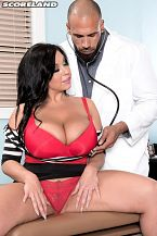 Sheridan love - the doctor is in. The Doctor Is In Congratulations to Sheridan Love for winning SCORE's Hardcore Performer of the Year 2015 and what better way to announce her win than in this roughcore scene with Carlos Rios as Sheridan's lascivious doctor losing both his medical ethics and his pants. Who could blame him with this hot babe in for a check-upSCORE: Sheridan, have you ever actually fantasized about having sex with a doctorSheridan: I always wondered when I had to get naked for the doctor, what he was thinking Was he looking at my huge tits, my round butt The thought totally turned me on.SCORE: Did you like having sex on a medical exam table Have you ever done that beforeSheridan: Never done that before. It was kind of rough being the table isn't very wide. But still fun!SCORE: You squirted...Sheridan: I squirted all over! It got super slippery.SCORE: Would you have sex with a real doctor if you had the opportunitySheridan: Definitely. Wonder if he makes house calls SCORE: Would you like to try a nurse-patient scene in the futureSheridan: I would love to! I promise to take nice care of my patient. I think I would look nice hot in a nurse's outfit!SCORE: Absolutely! What do you think about your DVD All The Way In How has the response been What did you think of the coverSheridan: Well, I was at the AVN awards when some of the awesome guys from SCORE surprised me with the DVD. I sold out of every copy that weekend! I have more fans asking for them. I love the cover being the wedding scene! Perfect for my all-me DVD.SCORE: Congratulations, Sheridan.See More of Sheridan Love at SCORELAND.COM!