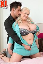 Samantha sanders - a view to a shag. A View To A Shag Samantha Sanders is hot. She needs a guy to take care of her. Her boy-toy is late for the show and Sam is getting impatient as she waits in bed. When he finally arrives, he gives Sam the shagging she's been gagging for. This dude has never had a woman with boobs this big. Sam's 34JJ jugs are splaying, jiggling and bouncing wildly as he drills her heavy and makes her cumshot several times. When they're have sexual intercourse-out, he fucks Sam's huge hooters and glazes them. beautiful times.We asked Sam to describe in detail one of the greatest sexual experiences of her entire life and she was happy to. This was on holiday in Cuba and was in fact with the manager of the hotel I stayed at, Sam remembered. He was sophisticated and the sex was amazing. We had sex in the swimming pool, on the beach and in the nightclub. I started dancing with him to a slow song in the nightclub and we ended up walking to the beach. He have sexual intercourse me in every position and it was mind-blowing. He made me orgasm over and over again. His hands, tongue and penish were amazing! See More of Samantha Sanders at XLGIRLS.COM!