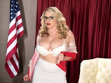 Maggie green - busting into politics. Busting Into Politics Unfortunately, this is not the next President of the USA, the next senator, congresswoman or even the next county commissioner. We'd be backing Maggie Green all the way if the blonde fili-buster decided to run for public office. But a breast-man can still dream of better government one day. Where does Maggie stand on the following issuesSex on the first date:Sure, if it feels right. But I would never do it if it was with a guy that I really thought I could have a relationship with.Masturbation:I love my Hitachi Magic Wand.Sexual positions:I like a lot of positions. I don't really have a favorite. It depends on my mood.We're not sure if this last statement is flip-flopping on the issue but whatever Maggie says is fine with us.Vote for Maggie! She'll make all of your dreams come true. See More of Maggie Green at SCORELAND.COM!