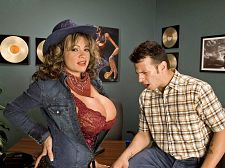 Denise derringer - tits-a-poppin'. Tits-A-Poppin' The plot of the SCORE feature movie Tits-A-Poppin' is a little complicated and not unlike a Twilight Zone episode. With a lot of have sexual intercourseing.The owner of a recording company gives his male executives a vial of liquid that gives them the telekinetic power to open a woman's top so that their breasts fall out. And when a girl's breasts fall out of their top, she naturally wants to have sexual intercourse. Now the recording industry is packed with horny hopefuls. Always has been, always will be. It's a never-ending parade, making it a fertile ground for bagging hot chicks.Denise Derringer from Texas and her Texas-sized breasts are here to audition for a contract. Denise is truly a nice country-western hottie and dresses the part for this meeting. Unlike the upstanding adult industry, the recording industry is rife with sleaze who make it a priority to try to have sexual intercourse the female talent. When Denise arrives, sleazy Tony's top-poppin' power guarantees that he'll be have sexual intercourseing Denise's mouth, kitty and butthole in record time. See More of Denise Derringer at SCOREVIDEOS.COM!