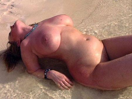 Busty Bonnie Banks On Boob Beach