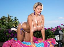 Katie thornton - curvy british bikini babe. Busty British Bikini Babe Newcomer of the Year winner Katie Thornton (June 2016 SCORE) pops her bikini under the Miami sun and sky. She's a living billboard for suntan oil as you'll see when Katie oils her horny naked body. It's very easy to completely lose your mind when Katie massages the oil into her big breasts and spreads her legs to oil her shaved vagina. When I'm home alone, I like to rub my vagina with a toy, said Katie who was anything but home alone here. That's my favorite. And I love sensual my boobs. They're very sensitive, my nipples especially are so sensitive. This was a large opportunity to sell binoculars door-to-door across the water. But getting our main mission accomplished was first priority.SCORE Guy JB writes, I am still deeply in love with Katie T. There aren't enough words to express how I feel about her, she is so delicate and pleasant and lovely. Katie is a gift to every SCORE member. See More of Katie Thornton at SCORELAND.COM!