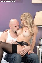 Alexis fawx - mature hottie of the month Mature Hottie of the Month Alexis Fawx gets dolled up to watch the housepainter (JMac). She comes on strong and work is suspended temporarily so he can pound her and shoot the white stuff down her throat. Once Alexis gets her have sexual intercourse fix, he can get back to work! It blow that these women take advantage of working men. A 23-inch waist and 32DDD boobs is very persuasive.A college grad and Air Force vet, Alexis got into porn in 2010 after seeing an ad. Porn dude and agent Tony Rubino introduced Alexis to the SCORE Group studio. She's also a licensed massage therapist and keeps in shape with boxing and yoga. I usually wear yoga pants when I'm out doing errands, said Alexis. I never wear underwear. That must be an interesting sight at the supermarket.Porn is the most-fun thing I've ever done. I love to get have sexual intercourseed by guys with big cocks who know how to use them.JMac rams into Alexis in positions straight out of an advanced sex manual. At 110 pounds and 5'4, Alexis is a living have sexual intercourse doll made for lifting and boning.See More of Alexis Fawx at SCORELAND.COM!.