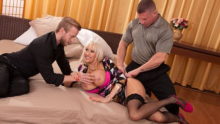 Hot stepmom hand job