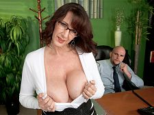 Cassie cougar - secretary's lunch hour. Secretary's Lunch Hour The boss's secretary does a lot more than take dictation and bend over a lot to pick up dropped pencils. What do you expect hiring a secretary named Cassie Cougar Cassie spends her lunch break gobbling the boss's bone. JMac's rod was a challenge for her. Cassie gladly took it on.It's ridiculously big, said Cassie. And I don't have experience with big cocks. My guys have been fairly normal and average. It's a challenge for me. It's a little scary. And he did comment that I was small. Apparently I'm not equipped to handle the larger ones.Cassie took it well.MILF Cassie was a secretary before she decided to take the dive into the hot modeling pool. I never did anything at this level before, she said. My web cam is solo only, so it's just me and my toys. I did an amateur video with an old boyfriend, but the camera was on a tripod and there wasn't really a whole lot happening. See More of Cassie Cougar at SCORELAND.COM!