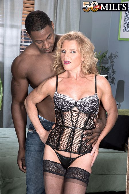 Now 50something, Amanda enjoys an interracial ass-fuck