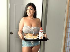 Breastfest in bed. Breastfest In Bed What's it like on the morning after a date with Daylene Rio Well, Daylene will bring you breakfast in bed and feed you, because a guy needs his strength to keep up with a babydoll like this. And once you've eaten, Daylene will dick sucking you rough and have intercourse your brains out. She will wedge your bone between her voluminous breasts. She will spread her pink cunt and ask if you want some. She will climb on top and ride you.   Daylene will suc your dick and lick your balls, occasionally looking up to stare into your eyes and smile. When you climb on top of her and have intercourse her, she will hold her breasts, lick them, look into your eyes and beg you to give her your hot load all over her libidinous body. And when you do, she will proudly hold her breasts in both hands and smile at you, pleased with her powers of persuasion. A date with Daylene always ends with a lot of man-pleasing after the subtle teasing when you're out in public with her.See More of Daylene Rio at DAYLENERIO.COM!