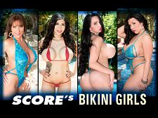 Amy anderssen - score's bikini girls. SCORE's Bikini Girls gorgeous tops straining under boobs that have been known to bust the strings that try to hold them. Extreme swimsuits under extreme stress. Who can stretch out the tops of bikinis, swimsuits and monokinis like these stacked sirens SCORE and busty have enjoyed their share of bikini-clad sun-bunnies. Being located in Florida is a considerable opportunity for beach and pool photo sessions. The Boob Cruises and Caribbean islands have been a considerable source for swimsuit action. And we'll happily give the British and European girls their time in the sun too...we'll go to them or fly them to some tropical paradise. SCORE Bikini Girls is a bodacious blend of big-boobed bikini busting babes, an all-star team of titillating, topheavy teasers. Here at SCORE, the girls do swimsuits right. This video is stuffed to the max with super-chested dolls. See More of Amy Anderssen at SCORELAND.COM!