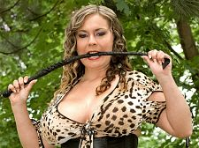 Jana - 34f-cup bra-buster's pole ride. 34F-Cup Bra-buster's Pole Ride 34F-cupper Jana is cracking that riding crop in a field of greenery. She's trying to be a fetish dominatrix but she's really a kittycat. busty to the brim, Jana is wearing a corset and jungle print lingerie. A faceless dude lays on a blanket awaiting her mouth and big boobs. The photography in this video is point-of-view and there is no plot. Jana kneels down to suc his tool with a wild look on her elegant face. She spends the right amount of time sucing and tit-banging him. No one-minute suc job for this foxy Czech sex-bomb.Jana slides off her tiny panties and does her magic, squatting over him in her high heels and sliding the shaft into her wet kitty. Jana does very deep squats over him, her snatch gripping his staff as she goes up and down. She has a very tight kitty according to the studs who've have sex her.Jana turns around and continues her deep knee bends over penish. A man needs a strong penish to take on this beauty. This dude is up for the task. What Jana wants, Jana gets, especially when lustful guys are in the mix. What Jana wants is a lot of hot sauce on her tits. See More of Jana at SCORELAND.COM!