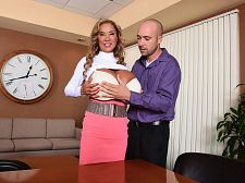 Mega-boobs office. Mega-Boobs Office Minka should have taken the executive job offered her at SCORE. Instead, she opted for a job at an office closer to home. The only problem is the manager has the personality of a high school vice principal and doesn't understand why Minka is making photocopies of her mega-boobs and working at her desk with her 44KK bra exposed, revealing yards of cleavage. In her own special, funny, lascivious way, she straightens him out and teaches him about her style of office politics. This office now belongs to Minka.  SCORELAND: Hi, Minka. It's considerable to have you back. The fans never stop asking for you. The last time you were in our studio was when  Minka: Almost five years ago. 2011. My fans wanted to see me, so I am happy to be back.  SCORELAND: Five long years, Minka. We know they're happy to see you back. What do your fans tell you they want to see  Minka: They want to see make love. That's what they want to see most. They want to see me make love considerable dicks! That is all they ask for!  SCORELAND: What do you want  Minka: Find a small dick. Then I can cumshot large! I have a very small pussy, so I like small dicks.  SCORELAND: Minka, you're one in 50 million. And with that, we'll say, welcome back! See More of Minka at SCORELAND.COM!