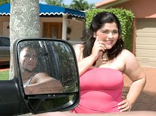 Pick-up on jugs lane. Pick-Up On Jugs Lane Mr. B. and his bro JMac are cruising in their car for hot chicks to fucked on the spot. They see Karla Lane checking her mail. As soon as they see her, they pull over and manage to get themselves invited into her house.   Karla is a hot-tempered Latina with an equally nasty sex drive. Proud of her big tits, she's happy to boast about them. She tells Mr. B. that he's too old for her but he can watch and film her sucks off JMac as much as he wants. Mr. B. keeps rolling as Karla blows and bangs JMac on her living room couch while he enjoys the show from his ringside seat. Karla gets a heavy-duty fuckeding and gives as beautiful as she gets. She is one lustful mamacita.See More of Karla Lane at XLGIRLS.COM!