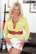 Boffice anal/b. Office bum Lauren Taylor, 56, is the boss. Tony is her employee, and he's been a very bad boy. You see, Tony has the hots for this MILF blonde (who can blame him), and he set up a remote camera under her desk so he can watch upskirt videos of her on his smart phone.  But when Lauren discovers the camera, Tony is in large trouble. Or is he   Oh my god, that mothermake loveer, Lauren says. I know who did this.  She calls Tony to her office and shows him what she found under her desk. He tries to deny it, but she's onto his tricks.  You little pervert, Lauren says.  Yeah, that's right. Tony is a little pervert, and Lauren is a lascivious divorcee and mom who wants to get some dick at work. So she gulp Tony's dick and has him make love her haired cunt right there on the office couch, and then she has him make love her tight asshole. And then she opens her mouth for his cum. It's a large load.  You're fired No way.  Lauren loves bum sex. We had the following conversation with Lauren about bum:  So the guy should take his time LAUREN: Yeah, but it's mutual. It's a mutual feeling of lovely, so you don't want it to be like a torpedo going in your ass. If I'm having a lovely time, he'll have a lovely time. And the guy has to ask before he sticks his dick in your ass LAUREN: Oh, no, I say, make love me in the ass. I make that determination. It's not for him to decide. Has any guy ever said no to bum sex with you LAUREN: Of course not. Why would they They're not allowed to say no.    See More of Lauren Taylor at 50PLUSMILFS.COM!