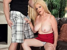 Byoung tool and a creampie/b. Young cock and a creampie Charlie Charm, who's 63 years old, is starting over. Her husband is gone, and she's having an estate sale. Well, Tarzan is one of her first customers, and he likes what he sees. He wants to sample the goods, especially after he opens an old book and Charlie's naughty pictures fall out.  These are you, huh he asks. I can jerk off to these.  But he doesn't have to jerk off because he's going to make love her. Of course, he can jerk off later while thinking about how he make loveed her, but for now, he gets the real thing.  Yep, it's a brand-new start for Charlie, and this one has a happy ending...with ejaculate in her pussy. It's a creampie for Charlie in her hairy make love hole.  By the way, Charlie is 30 years older than her guy in this scene. But that's nothing new for her. She's used to make loveing younger guys.  They're eager but impatient and they have a lot of stamina, she said.  Charlie is a mother and a grandmother. She says she's shy and proper at home. She's a registered nurse, but she also has her own naughty website. Shy Proper Hmmmm...  I like to have sex and be sexual in public, she said.  Okay, what's Charlie's idea of shy See More of Charlie at 60PLUSMILFS.COM!