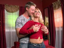 Holly stretches sweaters & dicks. Holly Stretches Sweaters & Dicks There had only been one cock in Holly Halston's well-make loveed, tight vagina for over ten years--the cock of her husband Troy. Holly and Troy decided to let SCORE studs have a go at her for the first time in her porn career. After the success of the DVD My Wife Your Meat, a movie that marked the first time Holly opened for the poles of other men in her MILF pussy and deeply drilled asshole, Holly decided to keep the momentum going and make love other porn performers.   In this scene, Holly tries on the tightest top to make her breasts look spectacular. Her breasts look so hot that her make love partner of the day can't wait to slam her into the next room. And he does. This scene is on DVD in Sweater Stretchers. large breasts. A tight sweater. An excellent nasty hardcore bitch with a filthy mouth and glamour girl looks. Hot porn sex. What more do you needSee More of Holly Halston at SCOREVIDEOS.COM!