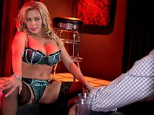 Amber's xxx stage show. Amber's XXX stage show Amber Lynn Bach really used to be a stripper, which is one of the things that makes this scene so hot. We've all thought about make love busty strippers in the VIP room, haven't we At least getting a give sucks job  Well, in this scene, Amber Lynn is on-stage and dancing. She's showing her boobs and spreading her cunt which, as we all know, are important dance moves. But she doesn't take her customer back to the champagne room to give suck and have sexual intercourse him. She does it right on-stage.  Must have been a slow day at the club, although you gotta figure that when word of Amber's dancing skills got around, the place filled up quickly, even for day shift.  When Amber was a stripper, she said she liked showing her body to strangers and knowing they all wanted to have sexual intercourse her.  It was a lot of fun, Amber said. I also danced at Rachel's in West Palm Beach.  Now, Amber is a busty MILF of Central Florida. She's a part-time swinger and a full-time lascivious wife. She enjoys swimming, going to the gym, SCUBA and sightseeing.  Hanging out at SCORELAND2 is our idea of sightseeing.See More of Amber Lynn Bach at SCORELAND2.COM!