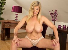 Marina's private show. Marina's private show Marina Rene, a DP MILF who loves dick in her cunt and bumed, puts on a show just for you in her return to 40SomethingMag.com. Marina, who's 49 and from Germany, has so much going for her, it's heavy to say what aspect of her is best.  The fact that she's a MILF  Her voluminous boobs  The way she loves to get have sexual intercourse in her cunt and bumed  The jewelry on her nipples  The bunch of voluminous rings hanging from her cunt  The fact that she loves sex and will do anything to please a man  All of those things are true, and in this video, we get to inspect her boobs, cunt and bum without any man-bum getting in the way. Yeah, we know, you love heavycore, but sometimes it's cute to see what a woman has to offer.  Marina offers a lot.  She's a German swinger who is married to a very giving husband. He watched while she shot these photos and during her heavycore scenes.  One of my favorite things is to have my husband's dick in my cunt and a stranger's dick in my bum while a horny woman blowjob on my boobs, she said. I enjoy double penetration, and with my piercings, the sensations send me over the edge. It's amazing to have two dicks in you.  Here, she has none in her...but she imagines that she does, and one of them is yours. See More of Marina Rene at 40SOMETHINGMAG.COM!