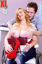 First xxx. Mya Blair enters an empty shoe store and gives salesman Brick a reason to be happy and grateful. Her large breasts are ready to fall out of her open blouse and as he talks heels, Brick's eyes are pasted to Mya's lush bod. She makes him jittery and that gets Mya hot to fuck him right then and there. Maybe someone will walk in and catch them in the act and that adds to her excitement. That's shoe biz, folks.  Mya clued us in about her XL Girls hardcore debut.  XLGirls: Mya, you looked very comfortable and natural on-camera having sex. Do you watch porn at home, and if you do, what kind do you watch   Mya: Yes, I watch porn nice often. It all depends on my mood but I love watching scenes that are in public or have the risk of the couple getting caught, also scenes with MILFs teaching a younger couple or my best friend's mom style.  XLGirls: Have you gotten ideas for new positions and techniques by watching porn  Mya: Honestly, I learned most of my skills from watching porn. I remember before I gave my first BJ I was really nervous about not knowing what to do, so I watched porn and used what I saw to kinda teach myself. I guess it paid off.  XLGirls: It sure did. Have you gotten ideas for new positions and techniques at XL Girls  Mya: Most of what I tried while I was filming were positions and techniques I had tried at least once in my personal life.  XLGirls: Do you plan on watching this scene with a friend or by yourself  Mya: I'm excited about it so I think I'll probably watch it with a friend.   XLGirls: We don't get impressed easily, but we are by you. See More of Mya Blair at XLGIRLS.COM!