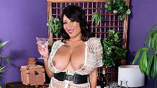 Danni's happy hour. Danni's Happy Hour I've watched my scenes at SCORELAND, Danni Lynne said, a smile crossing her succulent lips. Alone...at first. I loved them. I haven't had sex--yet--with any of them playing. The idea of that sounds hot. I have to say that after seeing them I am more confident now than I was before I made them. I've said before that I like the idea of all the guys out there seeing my pictures.  Suppose Danni was having a drink at the bar during a party, like she is in this scene, and she checks out a guy. What would she do  I'd walk over and give him a drink and take it from there. If we were alone, maybe I'd put on some lustful music and do a strip tease for him. I like a man who can make me laugh, cook nice food and give me full anatomy rubs. I like to have long talks about everything, especially if he's a cultured man.See More of Danni Lynne at PORNMEGALOAD.COM!