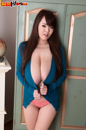 Sweater girl. Hitomi tries on a variety of tight sweaters in her