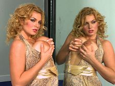 Watching her watching herself. Watching Her Watching Herself Anna Loren was happy to toy with herself and just as happy to do it at SCORELAND with everyone watching her. What does she think about as she tingles and buzzes her pussy She also watches herself in a mirror now and then while she's toying and rubbing and diddling. Guys don't do that when they rub one out but we can understand chicks doing that.   I don't hesitate when it comes to masturbating, Anna told us. I was actually really happy when I got called back to the studio.   She explained her batin' style. I just lay there and watch myself in any way or any position possible. Maybe I'll prop up a pillow so I can see myself better. I don't know. There's just something about it that turns me on. I mean, I'm not saying I turn myself on or anything. But I might be lying there masturbating and watching one of my videos and thinking, 'Wow, I did that!' And thinking of all you guys sitting at home, watching my video and masturbating, too...that would turn me on. See More of Anna Loren at SCORELAND.COM!
