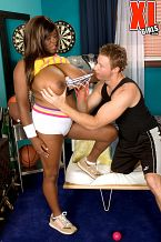Sports lover.   Although she's dressed for sports action, the only ball-playing you'll see is Mianna squeezing Colton's balls. Mianna is from Vegas and loves to watch basketball. Her favorite team is The Lakers.   Mianna was an 18-year-old student and tour guide when she tried nude modeling and porn. I haven't had a lot of sex in my life, admits Mianna. I thought about modeling and debated whether to wait about doing XXX-rated videos.   But then I said to myself, why wait What would be the point I could have just done titty stuff but I wanted more. Everyone gets tested and has medical proof before...it's really totally safe compared to when people just hook up in a bar drunk and have sex. Also I wanted to try it with a porn actor too.   See More of Mianna Thomas at XLGIRLS.COM!