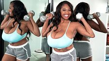 Workout with rachel. Workout With Rachel Here's our chance to keep up with Rachel Raxxx, if you can. This is similar to a Green Berets workout although their workout doesn't include pouring water all over yourself and using a vibrating wand.  Rachel is in spectacular shape and ever since her debut, the mail has been pouring in. Rachel's rack is awesome, without a doubt one of the best ever in SCORE, wrote P.S.. Perfect in size and shape, her big, voluminous hangers are magnificent. She lets then hang, she stacks them and she squeezes them together. Rachel definitely has it. I also must comment on Rachel's booty. It is shapely and firm. I find all of Rachel's ink sexy. It gives Rachel a bit of that bad girl look, which is very sexy.  My goal is to finish college, said Rachel, who's a candidate for curvy Newcomer of the Year 2016. I want to become an epidemiologist. They're scientists who study the cause and effect of disease, but for right now, I'm just enjoying myself and making some extra money and chilling.See More of Rachel Raxxx at PORNMEGALOAD.COM!