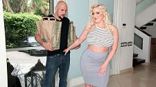 Fuck the delivery guy. Make love The Delivery Guy Bunny Ranch babe Holly Wood orders some groceries, mostly fruit, for a party. Enter JMac, who's the delivery man. JMac sure has a lot of jobs--air-conditioning repairman, warehouse manager, masseur--but he loses them because he fucks his curvy customers. excited Holly is eager for some action when she examines his banana. We talked to the blonde with major T&A about this epic pair-off.  SCORELAND: Hi Holly Wood, what did you think of your scene with JMac as it was happening  Holly: I have to say I was super-excited and turned on. We had large chemistry right from the start so I knew I was in for a fun time!  SCORELAND: What did you like better, shooting the still photos or the video, and why   Holly: Video of course! I can get into the moment more and really let loose! The photos are nice, and are some of the best I've ever taken! But nothing compares to the delight of making videos!  SCORELAND: Did you talk with JMac and the cameraman about the scene before the shoot   Holly: We meshed together as a team, absolutely! But JMac is a pro and we nice much shot everything without stopping. We were so into what we were doing that he just led the way and we let loose!  SCORELAND: Is there anything you'd like to say to the guys watching  Holly: Thank you so much for all of the love and support in this amazing journey of mine! The more we hear from you, the more you comment and write in, the more videos you'll see of me! See More of Holly Wood at PORNMEGALOAD.COM!
