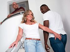 Bbc butt cuckold. BBC bum cuckold Missy's husband comes home, and Jax is with him. She's looking very excited in a tight top, tight jeans and heels, and Jax notices.  Missy's husband decides to take a shower, which leave her all alone with Jax. She has him sit on the couch and tells him to show her his cock.  What  If you want, he says.  She takes it out and cock cock suckings it, and when hubby comes back from taking his shower, he can't believe what he's seeing: His wife cock cock suckings on his best friend's big, black cock.  What the hell are you going he says.  Oh, honey, don't make like you didn't want to see me cock cock sucking a big dick, she says. Sit down. Just sit down and watch me.  So he does, and he has a front-row seat as his 50-year-old slut wife cock cock suckings Jax's BBC and takes it in her tight cunt and bum. Looks like Missy has her hubby trained well.  I once had a train pulled on me in a glory hole booth, said Missy, who's a hairstylist back home in Detroit, Michigan. She once cock cock suckinged off four 20something guys in a hotel room. She loves being DP'd. How often does she have sex  Every single day, she said.  And not always with her husband.   I love DP. Being filled with cocks...I love that! I've done it quite a few times. The first time was about six years ago. It was set up. There were two other guys and my husband, and my husband sort of primed me for it. He was playing with my bum while I was getting fucked, and I was cock cock suckings somebody off at the same time, and he was playing with my bum, and then he started make love it at the same time the guy was in my cunt. It just happened, and it was very good. I knew I loved bum sex, so DP was even better.  Here, it's just one cock for Missy. Her husband could've joined in, but that's not what this was all about. This was about Missy's cuckold fantasies. They're usually satisfied. See More of Missy Blewitt at 50PLUSMILFS.COM!