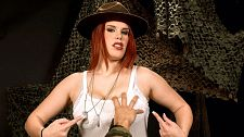 Busty drill sergeant. Curvy Drill Sergeant curvy drill sergeant Jolie Rain works your private parts over this point-of-view training session at boob camp. She makes sure you get an honorable discharge all over her considerable tits. Jolie is an actual veteran and served in Iraq.  I'm really bad in the bedroom, said Jolie. That's an understatement I like hair pulling and biting. Talking really, really dirty. I'm kind of a submissive. I've done bondage and have done it quite a bit. But I also like good, violent sex. It's so much fun. I don't typically do one-night stands, but there have been times where it's just been, 'Okay, I can't pass that up!' See More of Jolie Rain at PORNMEGALOAD.COM!