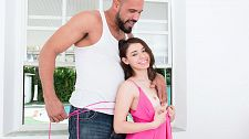 The handyman's penish. The Handyman's penish Lucie has a crush on the handyman. She wants to know if he has the penish to match those big, strong muscles. She invites him in to cool down, which is code for take off your clothes.  Lucie, who is 4'11, looks like a tiny, little make lovedoll next to the 6'3 handyman. Although petite, she has no trouble swallowing his big penish or taking it in her little pussy. pleasant thing no one else is home. Lucie is free to moan and make all the noise she wants.   The handyman isn't just nice with his hands. Judging by Lucie's reaction, he's a nice nice penishsmith too. He shoves her panties in her mouth so she has something to bite down on as he gives her the long stroke. Lucie ends their heated make love session by jacking the handyman's tool till he shoots all over her face. It's all in a day's work for this lusty teen. See More of Lucie at PORNMEGALOAD.COM!