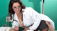 The doctor willl gulp & jack ya now. The Doctor Willl gulp & Jack Ya Now You're in nice hands, mouth and tits with Dr. Persia Monir. As mature sluts go, Persia is one of he filthiest and dirtiest a MILF seeker could ever want to go a few rounds with. Persia is the kind of woman you'd see at the supermarket. She'd be dressed hot but you'd never suspect that she fucks and blows total strangers in porn videos.  I think I look better now than I did when I was 18, Persia said. I'm not going to be old and wrinkled. I refuse. What's the point And I've always worked out, too. Swim, try to eat right.  I'm an official MILF, and my son knows what I do. We don't go into details about it. He's okay with it. I used to be a nurse and do 24-hour call, and he'd be sleeping on stretchers and eating Graham crackers.  I get a lot of young men who want to fuck me. But it's kind of creepy for me because they're my son's age. Some of them are mature enough, but some of them are like, 'No way!' I never really liked young men. Even when I was 30, I never went for young men. See More of Persia Monir at PORNMEGALOAD.COM!