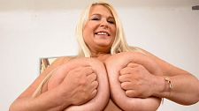 Brit babe bares best tits. Brit Babe Bares Best boobs Samantha Sanders talks about her holiday in Ibiza, a party island off the east coast of Spain, and a huge attraction for British vacationers and party people for several decades.   This is Sam's favorite place to unwind and have fun. She talks about going to the nude beach and the reaction she gets from her fellow beachgoers when she takes out her massive naturals.  As Sam chats, she gets her clothes off piece by piece until she's starkers and opens her legs to flick her bean in a show that no one sees at the nude beach in Ibiza. We feel for 'em!  I get a lot of compliments about my tits, said Sam. The nicest one I've heard was the simplest. 'You have the best boobs in the world.' That works for us. Thanks, Sam! See More of Samantha Sanders at PORNMEGALOAD.COM!