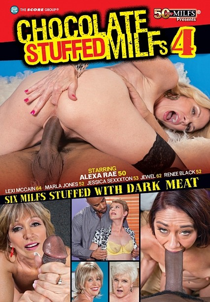 CHOCOLATE STUFFED MILFS 4 DVD cover image