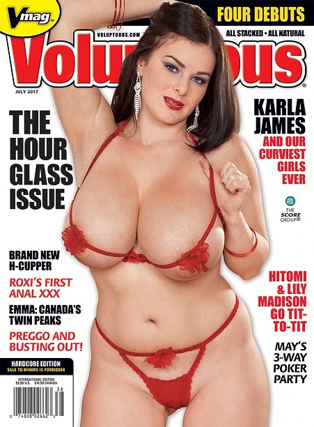 VOLUPTUOUS JULY 2017 Magazine cover image