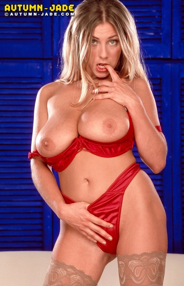 Autumn In Red Lingerie