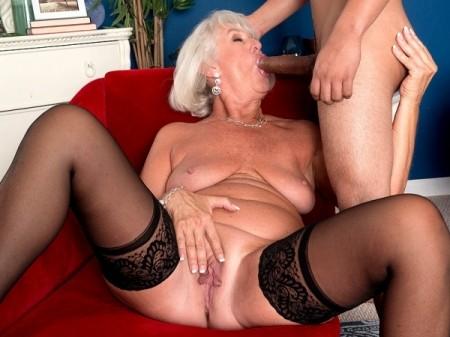 Grandma Jeannie Lou Sucks A 24-Year-Old's Cock