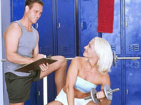 Mom gets ass-fucked by her fitness trainer