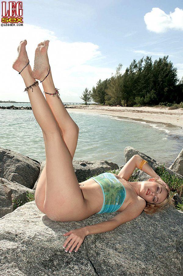 Michelle's sandy feet