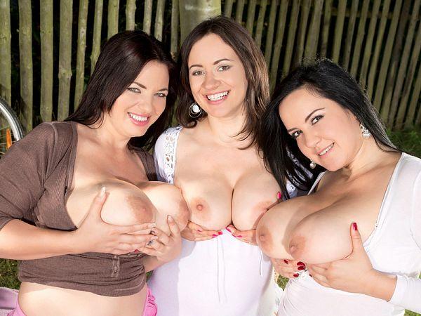 Joana, Roxanne and Amorina's Busty Picnic