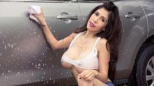 Big-boob car wash