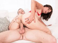 Kelly Scott's first time...she has a very hairy pussy!