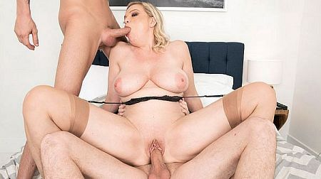 Lena gets ass-fucked by her neighbors